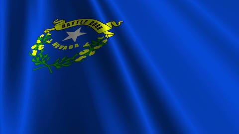 Nevada Flag Loop 03 Stock Video Footage