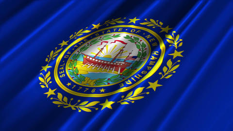 New Hampshire Flag Loop 02 Stock Video Footage