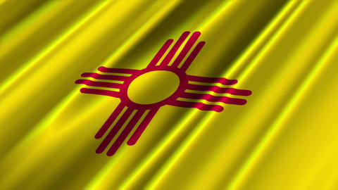New Mexico Flag Loop 02 Stock Video Footage
