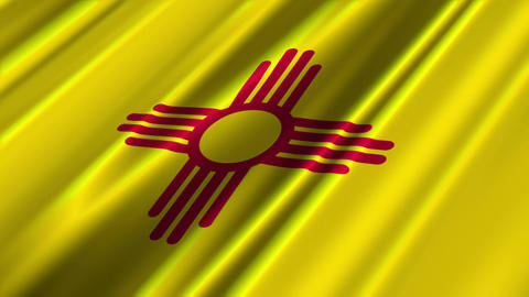 New Mexico Flag Loop 02 Animation