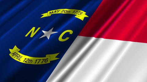 North Carolina Flag Loop 02 Stock Video Footage