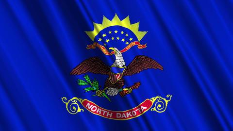 North Dakota Flag Loop 01 Stock Video Footage