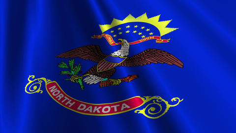 North Dakota Flag Loop 03 Stock Video Footage
