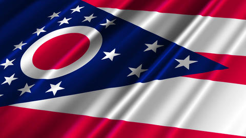Ohio Flag Loop 02 Stock Video Footage