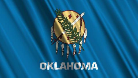 Oklahoma Flag Loop 01 Stock Video Footage