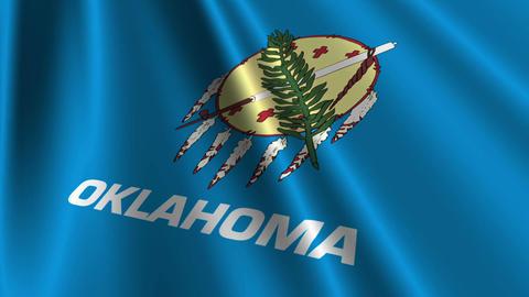 Oklahoma Flag Loop 03 Stock Video Footage