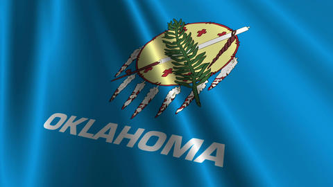 Oklahoma Flag Loop 03 Animation