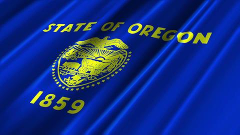 Oregon Flag Loop 02 Stock Video Footage