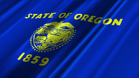Oregon Flag Loop 02 Stock Video Footage