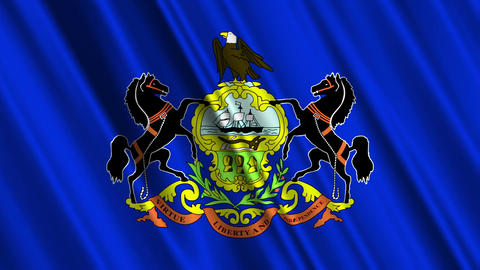 Pennsylvania Flag Loop 01 Stock Video Footage