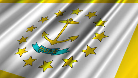 Rhode Island Flag Loop 02 Stock Video Footage