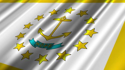 Rhode Island Flag Loop 02 Stock Video Footage