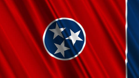 Tennessee Flag Loop 01 Stock Video Footage