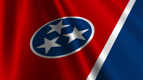 Tennessee Flag Loop 03 Stock Video Footage