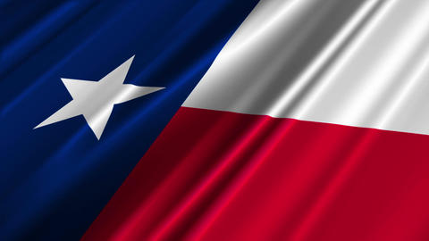 Texas Flag Loop 02 Stock Video Footage