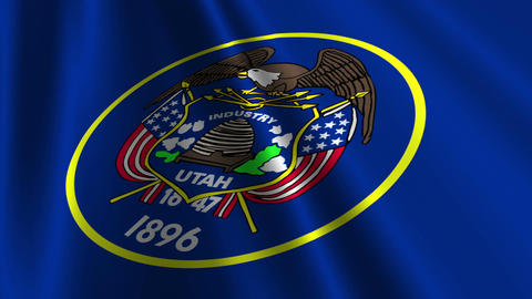 Utah Flag Loop 03 Animation