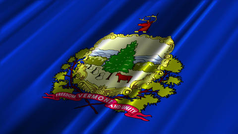Vermont Flag Loop 02 Animation