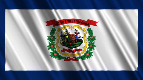 West Virginia Flag Loop 01 Stock Video Footage