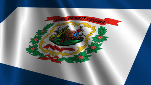 West Virginia Flag Loop 03 Stock Video Footage