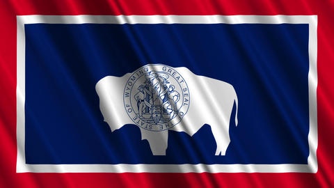 Wyoming Flag Loop 01 Animation
