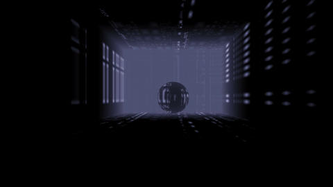 Full-sphere in a room Stock Video Footage