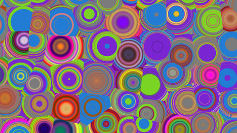 Bright color circles Stock Video Footage