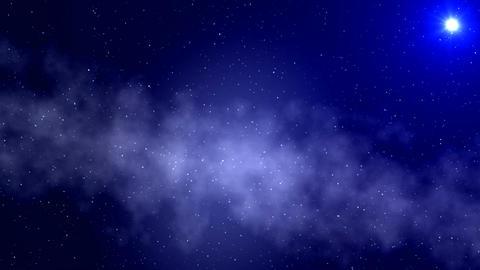 UFO. A fog. Stars Stock Video Footage