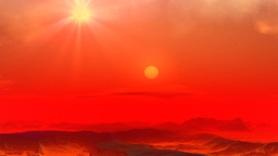 Red planet Stock Video Footage