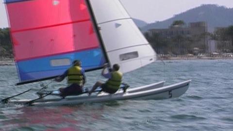 Catamaran Stock Video Footage