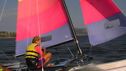 Catamaran Stock Video Footage