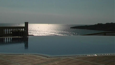 Pool above the sea Stock Video Footage