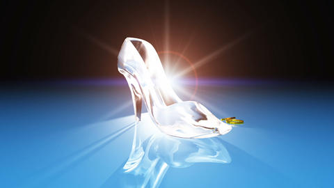 Cinderella shoes Stock Video Footage