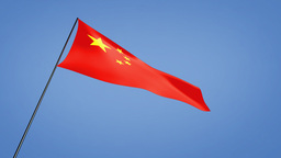 China flag low angle Stock Video Footage