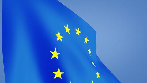 euro flag closeup Stock Video Footage