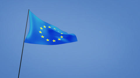 euro flag wide Animation