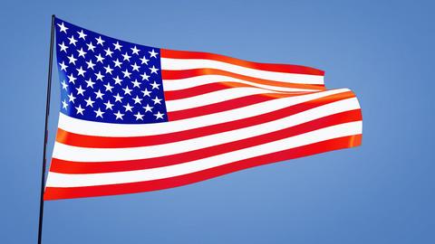 US flag Stock Video Footage