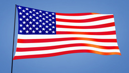 US flag Animation