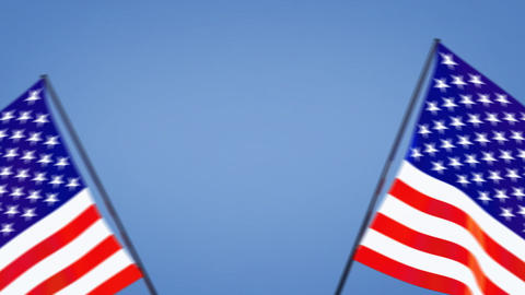 US flags moving Animation