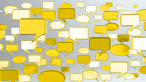 many conversation icons yellow Stock Video Footage