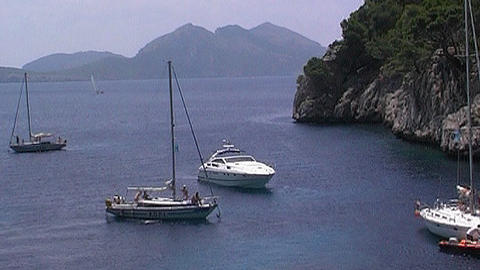 Sailing yacht73 Stock Video Footage