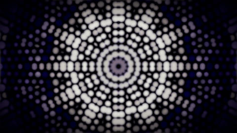 Abstract Animation With Glowing Kaleidoscope Pattern stock footage