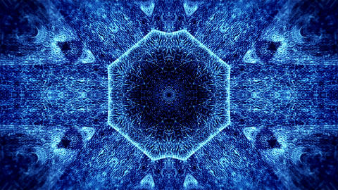 Abstract animation, textured kaleidoscope pattern Animation