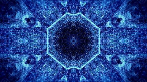 Abstract animation, textured kaleidoscope pattern Animation