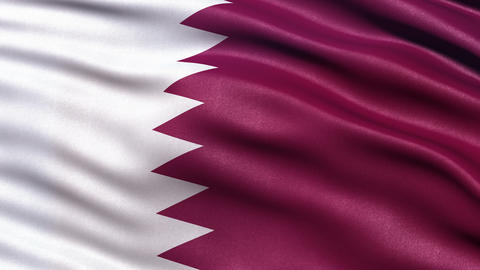 4K Flag of Qatar seamless loop Ultra-HD Animation