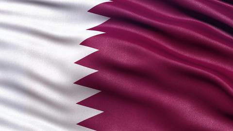 4K Flag of Qatar seamless loop Ultra-HD Animation