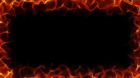 Fiery frame HD Animation