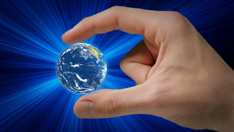 earth in hand HD Animation