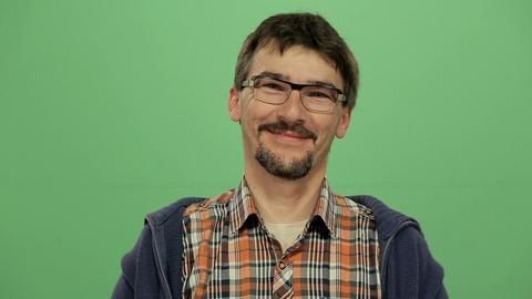 Man Smiling stock footage