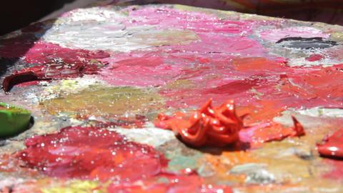 Oil painting on canvas 08 Footage