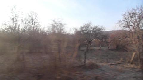 Regard on the train window 55 Footage